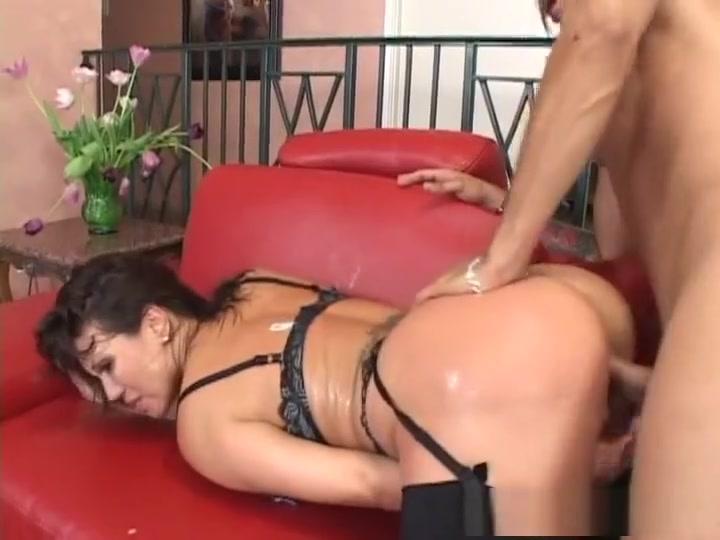 Horny pornstar Ava Devine in fabulous fishnet, big tits porn movie