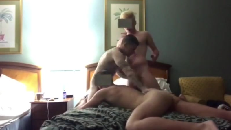 Hotel threesome Bondages woman handjob dick and facial