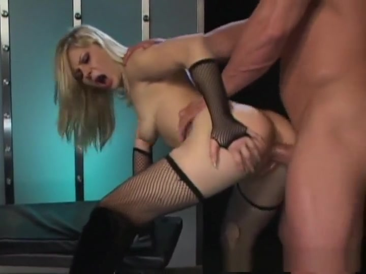 Crazy pornstar Aaralyn Barra in exotic fishnet, blonde xxx scene babe having anal fuck