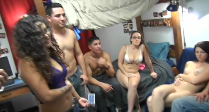 Winsome and racy college party Iicking pussy