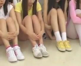 Japanese schoolgirls in hot orgy (censored but hot)