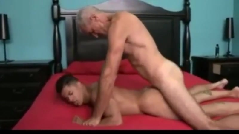 Younger and older lovers sex scene mother and son
