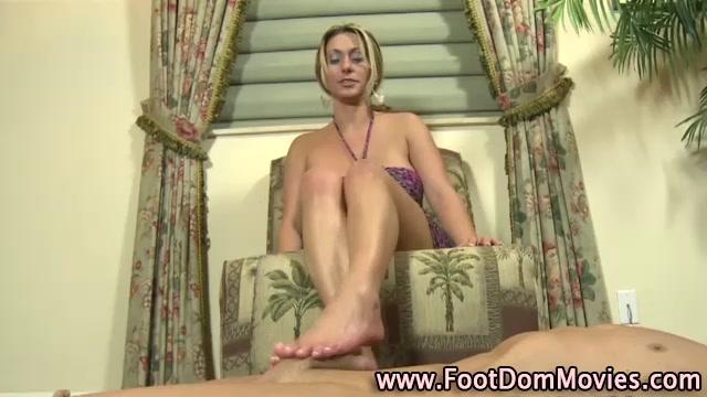 Femdom babes sexy feet rub cock East european cupid