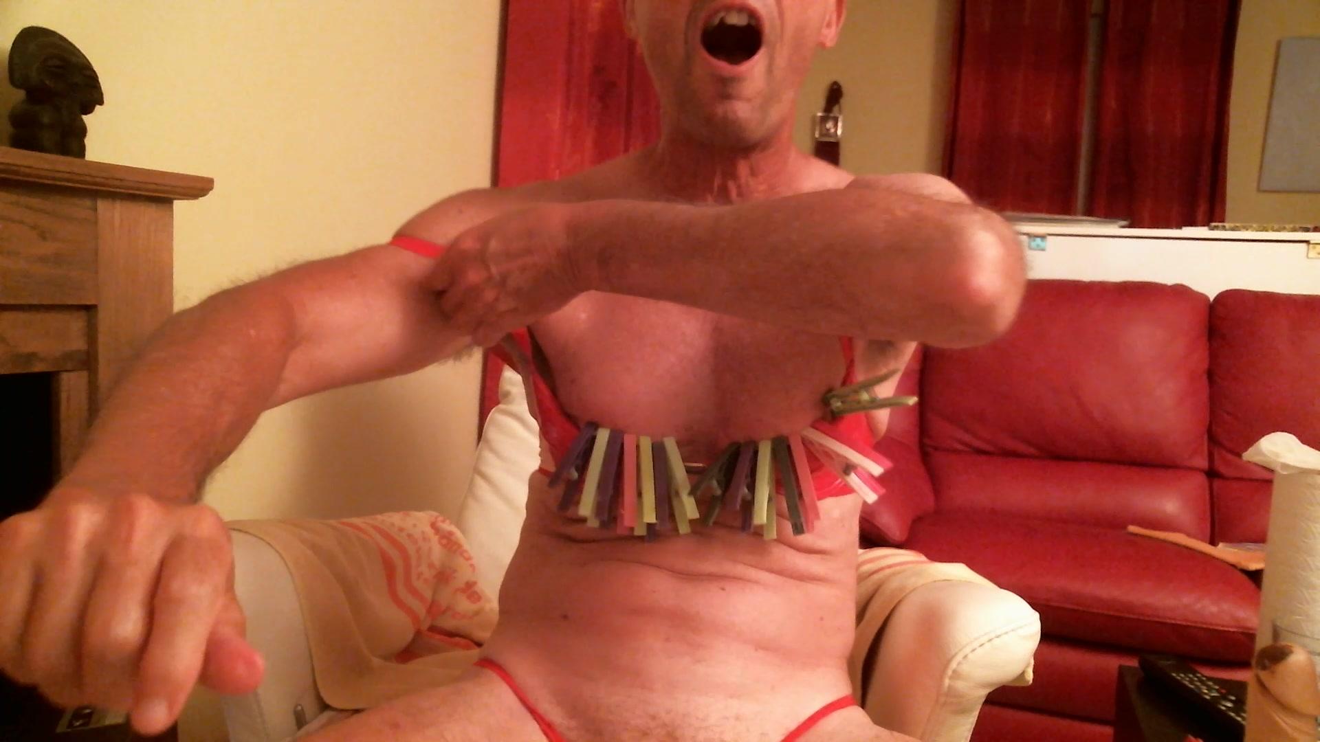 olibrius71 clamps nipples, slap face
