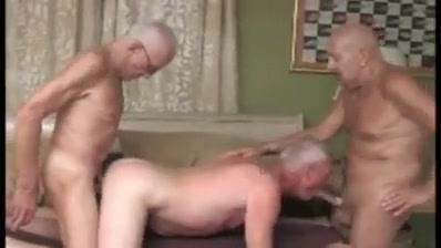 Three grandpas on the swimming pool Sexy pornstar sucked hard