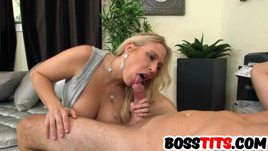 Stunning big boobs boss Angel Allwood