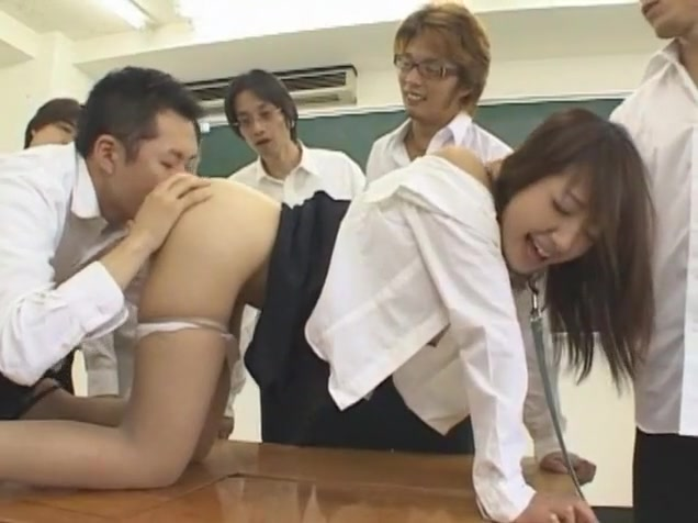 Crazy Japanese model Amai Mitsu in Amazing Fingering, Group Sex JAV scene