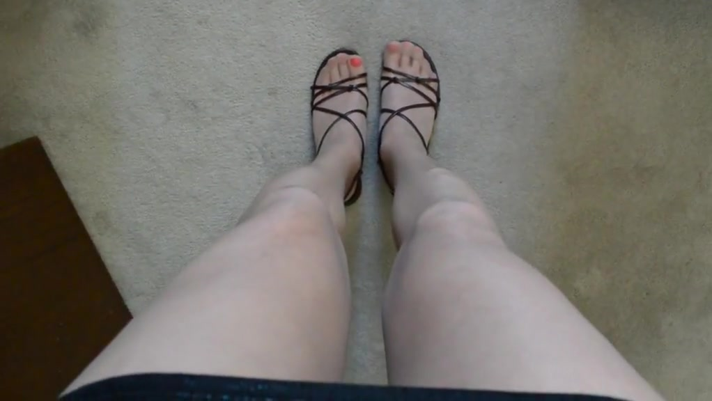 Hot pink toes in pantyhose my mom is coming
