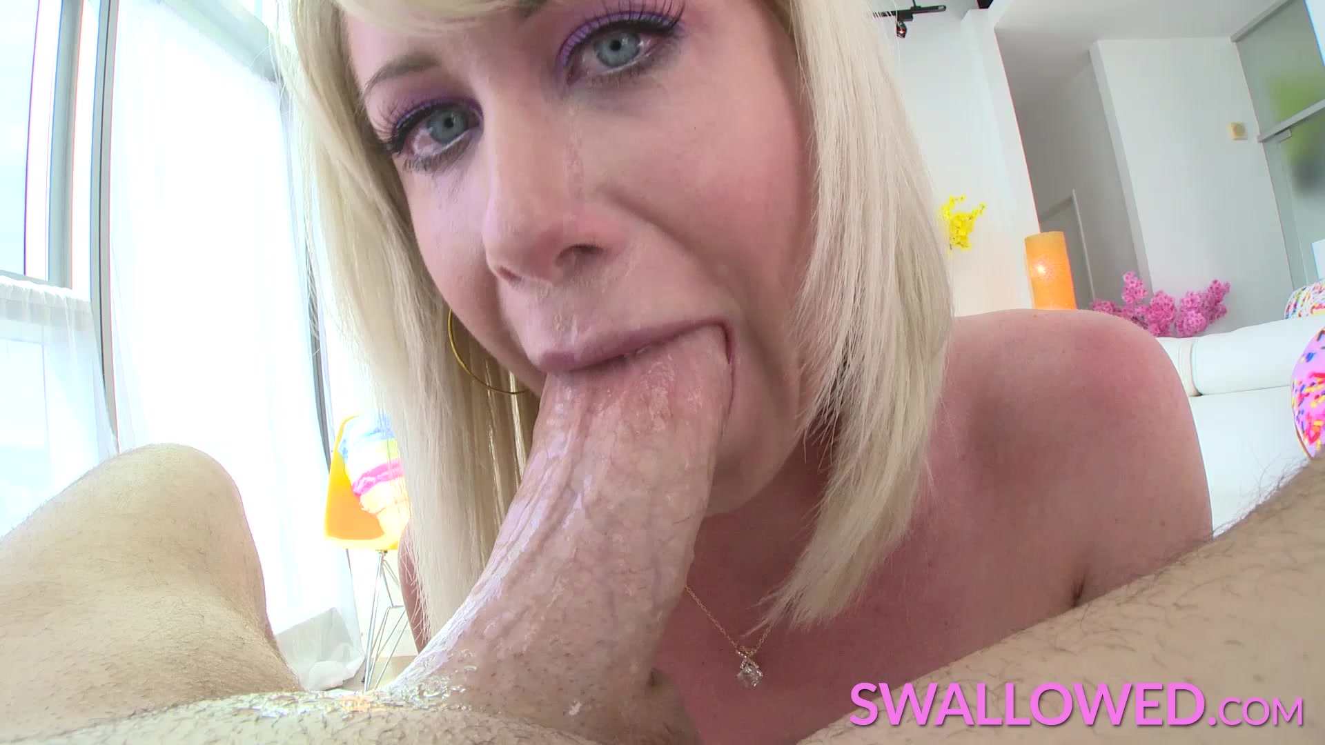 SWALLOWED Riley Jenner throat fucked by white ### dick
