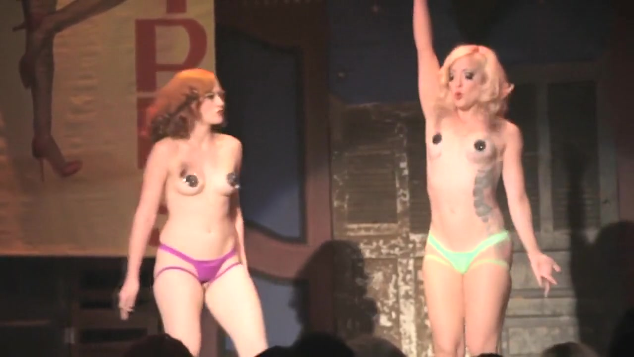 Burlesque Strip SHOW 303 Gal Friday & Peekaboo Pointe hot freak girl sex