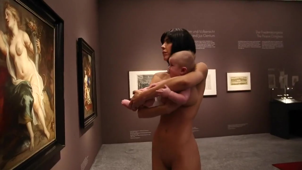 Nude Swiss artist Milo Moire in the LWL Museum Deep throat bizzae