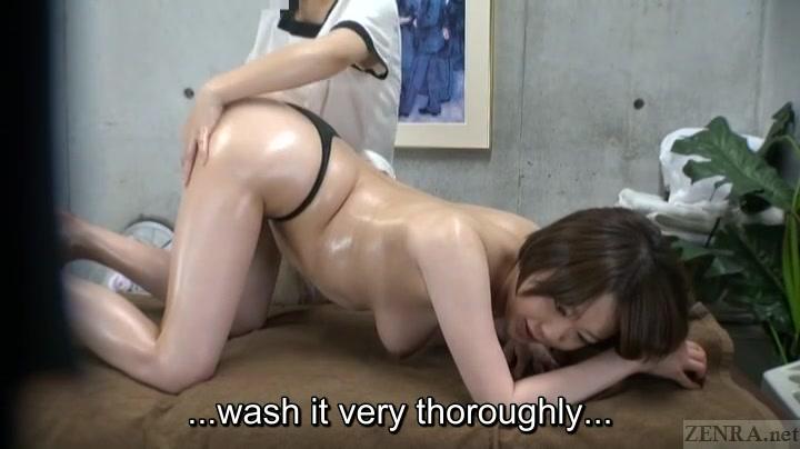 Subtitled ENF CFNF Japanese lesbian massage clinic anal care Tara holiday orgasm