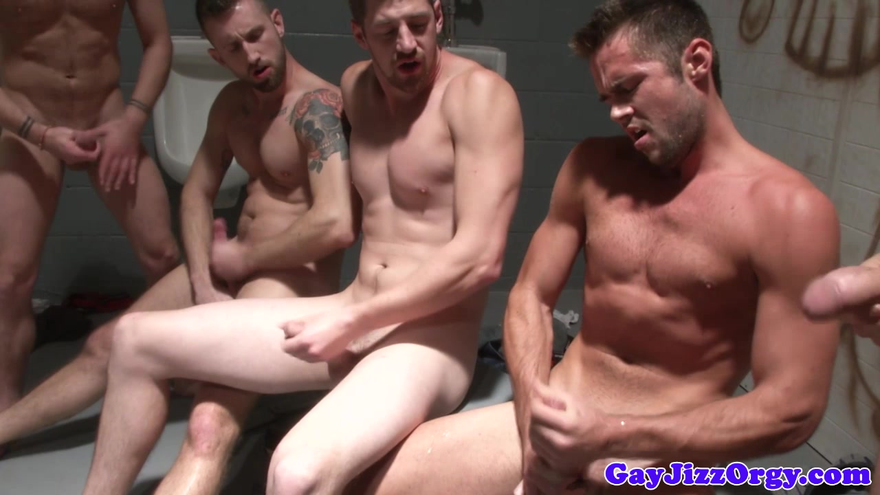 Trevor Knight and pals jerk off together black delivery girl porn