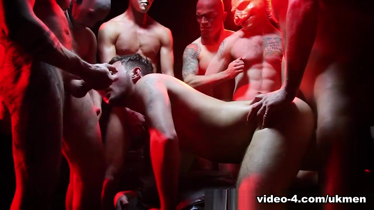 Satanic Gang Bang - UKNakedMen Bit titted milf with 2 big dicks