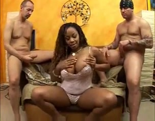 Two white dicks one black chick