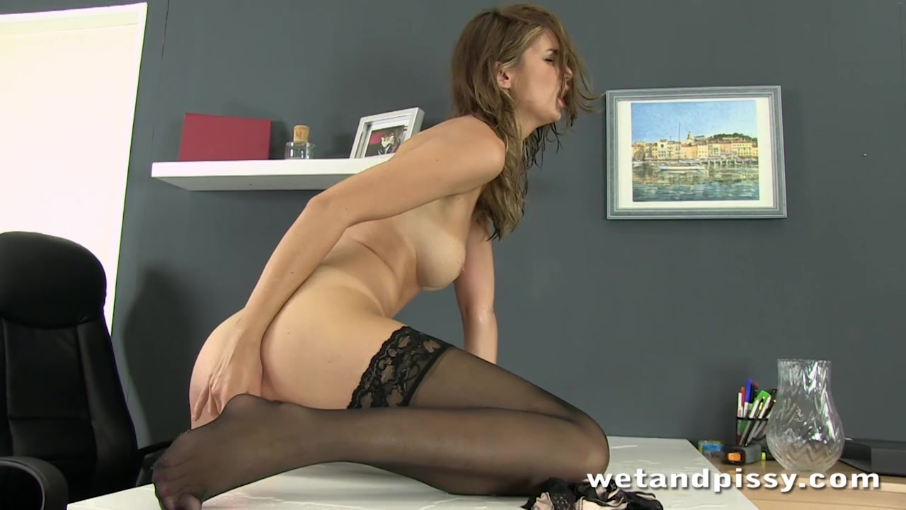 Office orgasm for ### squirting brunette Enena Undressed