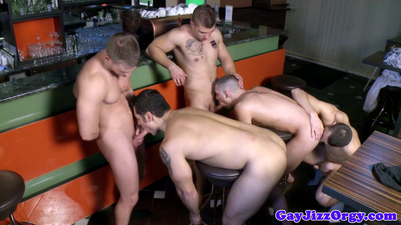 Marcus Ruhl joins an orgy in a bar Adult nsa