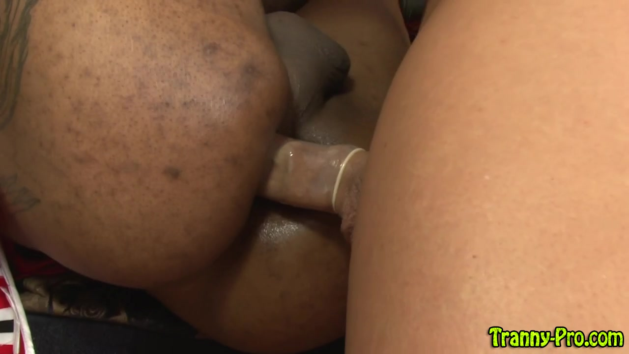 Black shemale prozzie gets fucked