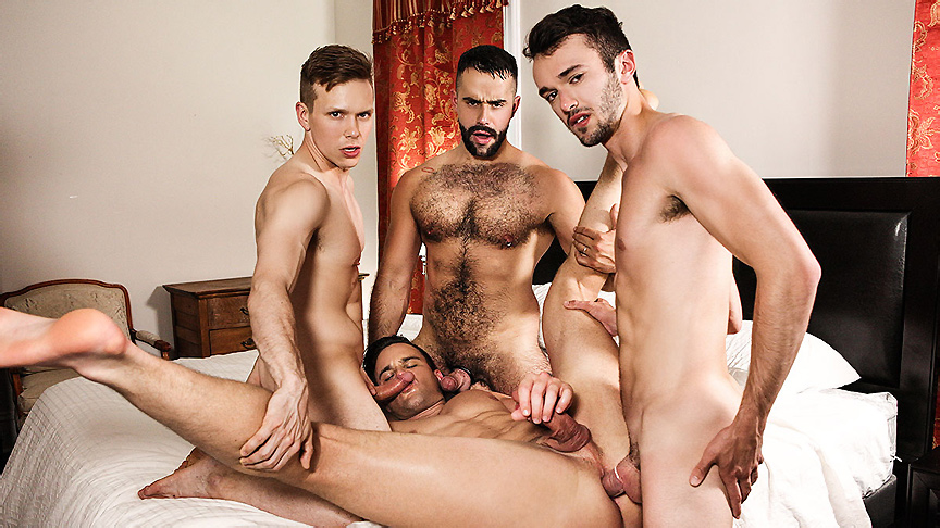 Beau Reed Ethan Chase Teddy Torres William Sawyer in SuPERVisor Part 3 - DrillMyHole frog rain boots for adults