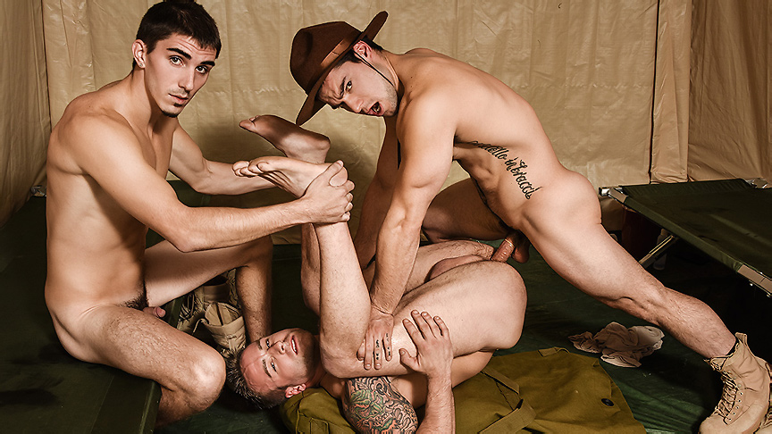 Aspen Damien Kyle Tanner Tatum in Drill The Sergeant - DrillMyHole in new sex store toy york