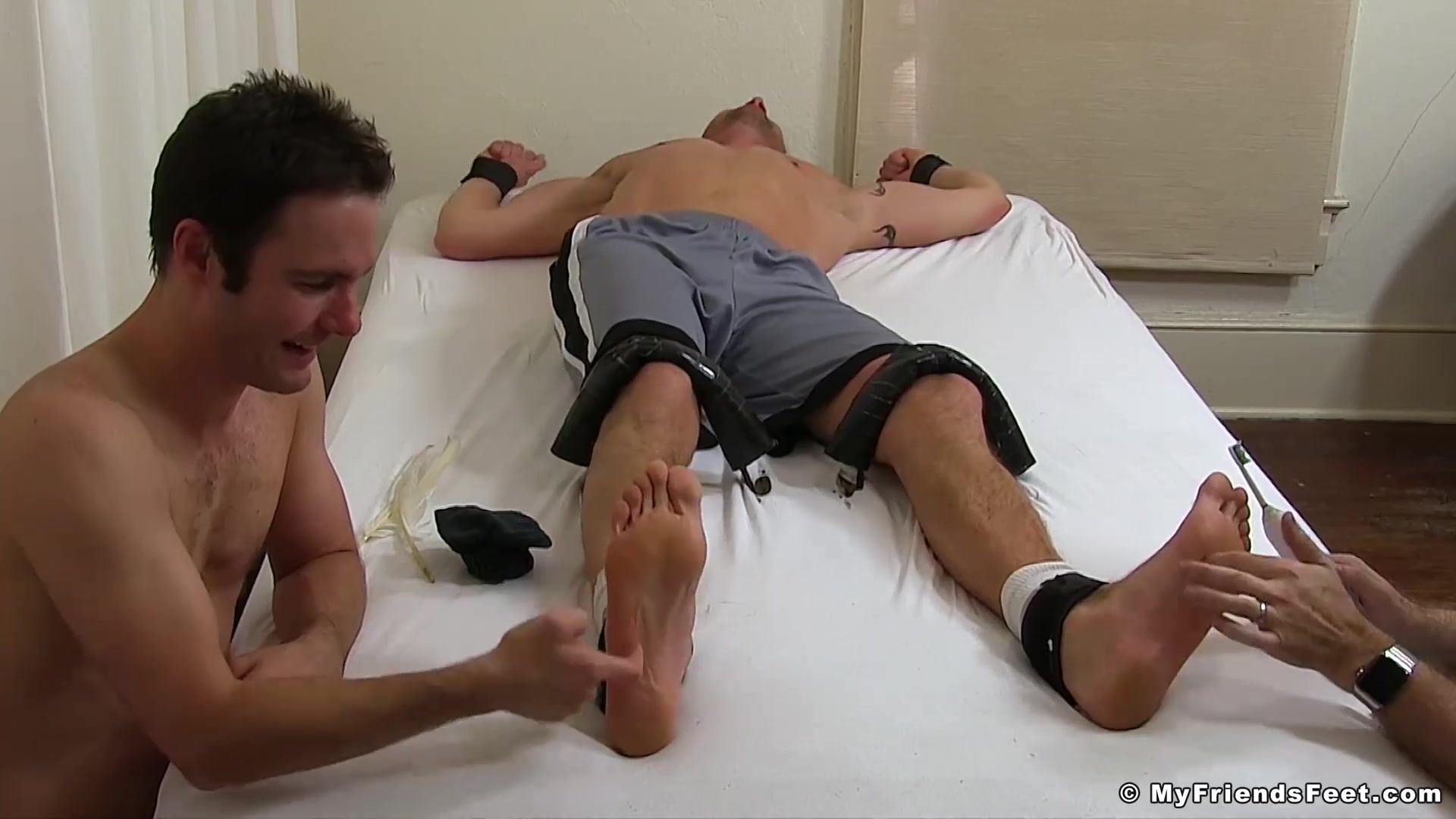 Sergey in Hot and sexy Sergey immobilized and tickled hard at home - MyFriendsFeet Christie stevens blowjob