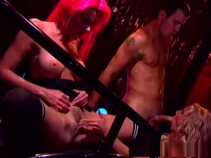 Horny pornstars Nicole Sheridan and T.J. Hart in best fishnet, redhead adult movie