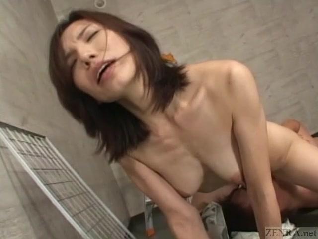 Subtitled mature Japanese woman blue collar sex boss perfect body hot ass