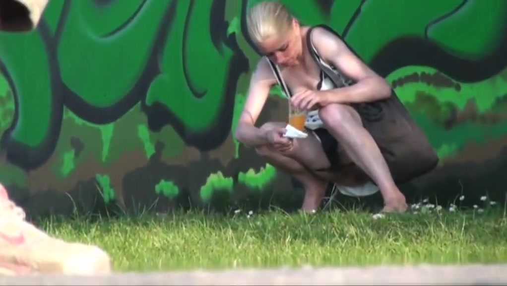 Girls pissing outdoor at festival Bra busters and huge cock free porn