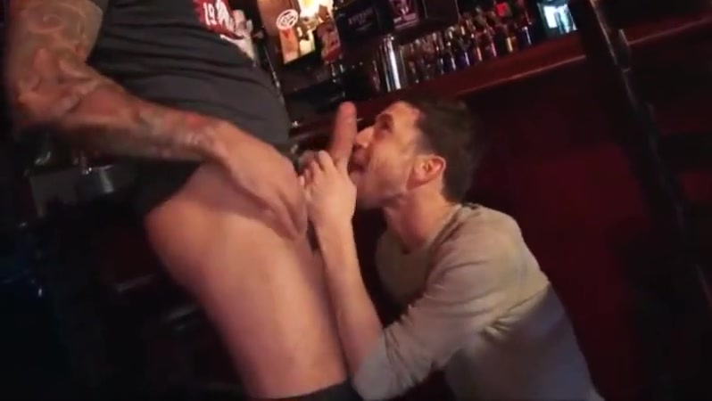 Fucking a boy on the bar Ass boot leather monkey