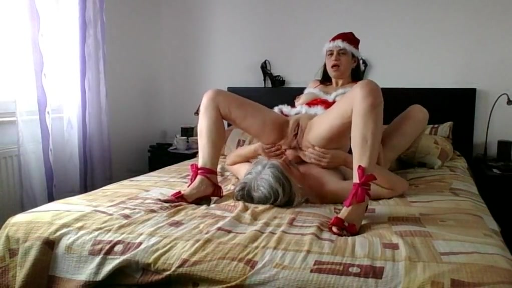 Kriss in christmas costume 2 the gift part 2 from 2 Cheating wife fuck gif
