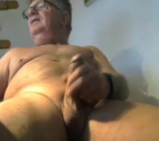 Grandpa stroke on webcam 8 big giant black cock