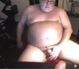 Grandpa stroke on webcam 6 Sharka blue fisting