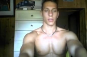 Italian handsome fitness boy big thick cock on cam watching porn for free