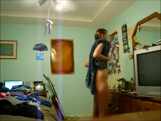 immatureie caught changing after shower day with a pornstar video