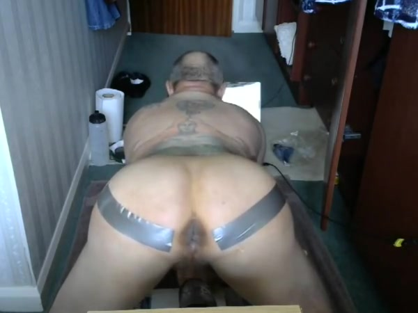 Abusing my man pussie again Domina whips bdsm sub