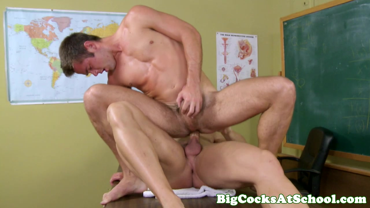 Twink Mike de Marko hairy butt fucked on classroom desk Cell phone flashing programs