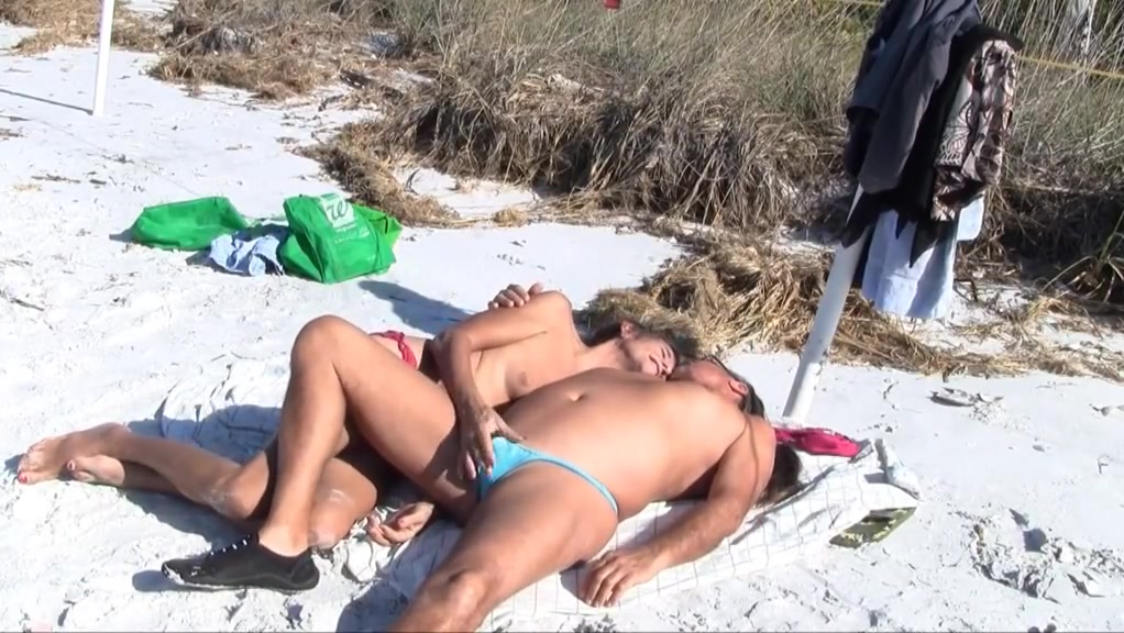 Jamie and michelle suck each other at the beach stockings and suspenders sluts