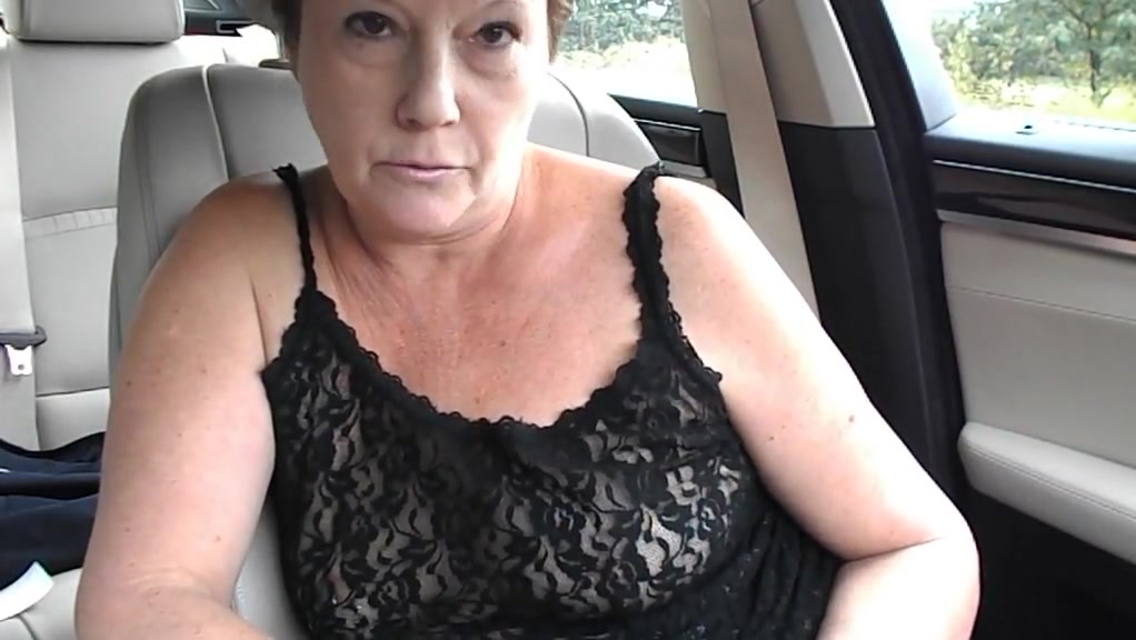 Mature tiny tit topless dare in car Masturbates with carrotts