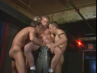 Leather and Chains Nude men in gym shower