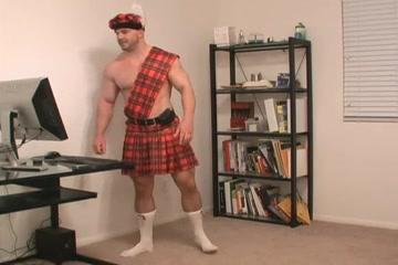 Scottish Kilt Man beautiful nude older woman