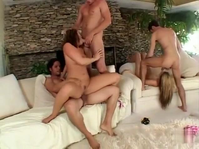 Horny pornstar Kinzie Kenner in crazy group sex, blonde xxx scene
