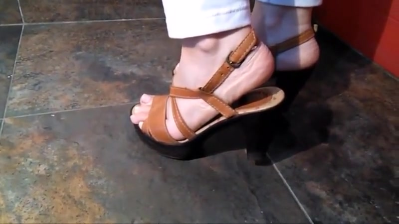 Shoeplay with brown slingbacks How long to have unprotected sex after vasectomy