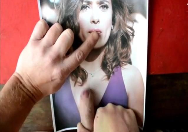 Another cum tribute to salma hayek k between my boobs klixen