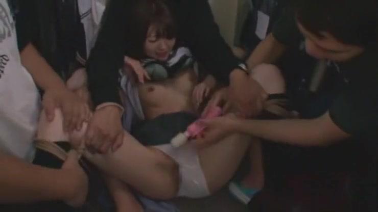 Exotic Japanese model Ria Serizawa in Crazy Gangbang, Fetish JAV movie