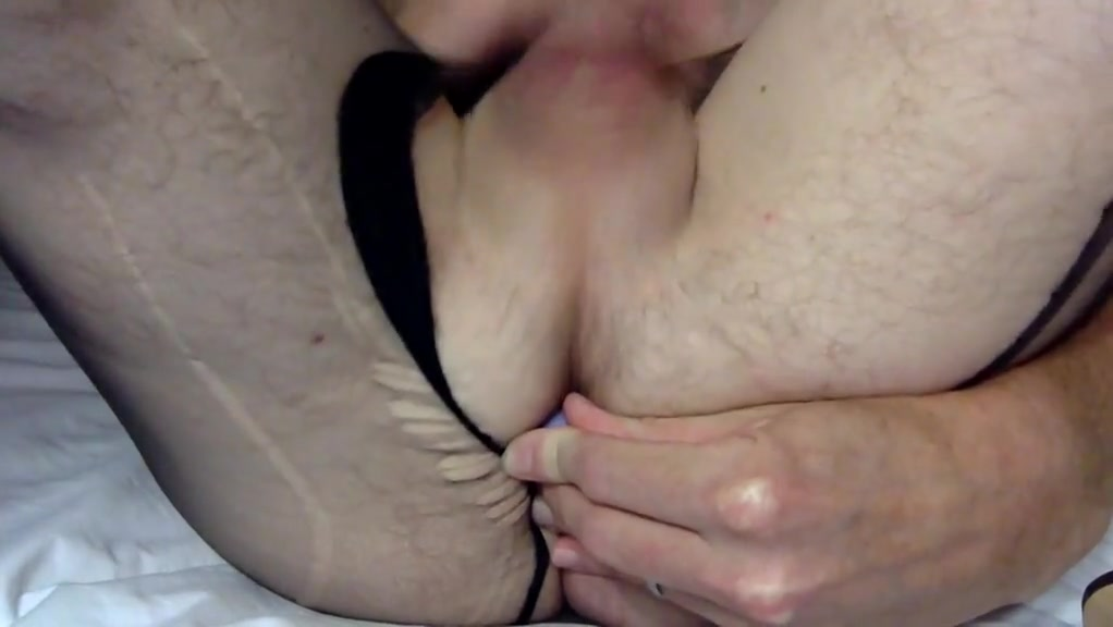 Getting my huge cock off in my black pantyhose hot dirty sexy blondes porn tits