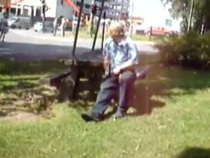 Old man jerks in the park Another redbone ssbbw gets bigvein