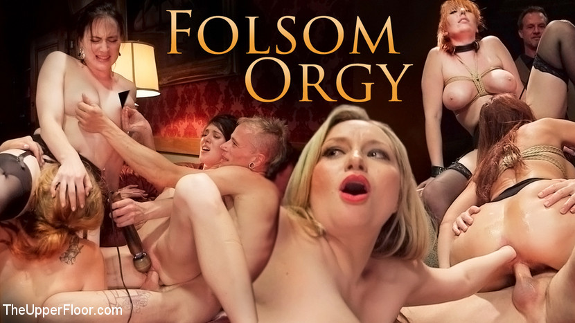 Syren de Mer John Strong Eliza Jane Aiden Starr Lauren Phillips in The Fantastic Fucking Folsom Orgy Pt. 2 - TheUpperFloor Big Tit Femdom Gives Nasty Milking