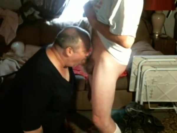 Crossdresser sucking mature buddies cock and swallows it all girls in porn webcams