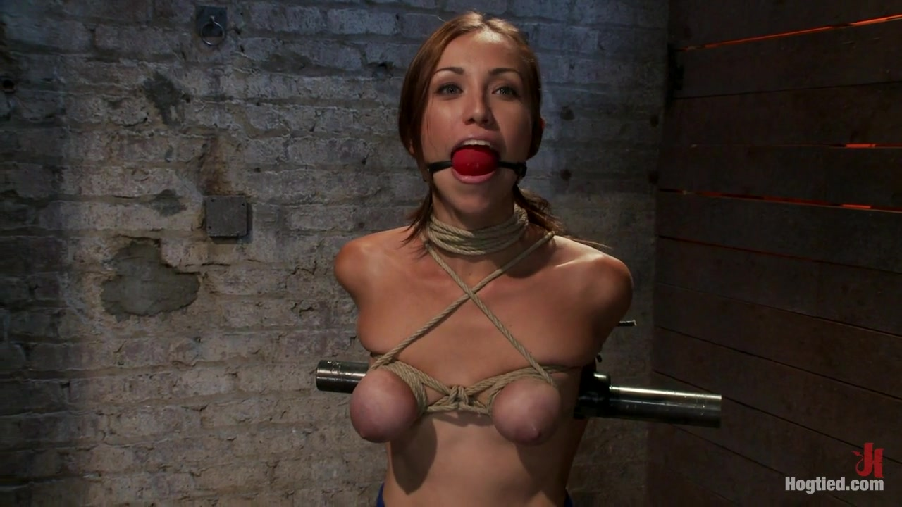Audrey Had Her Breast Bound Huge Mouth Properly Gagged.Nipples Clamped And Made To Cum, Cum - HogTied Athletic black women sex
