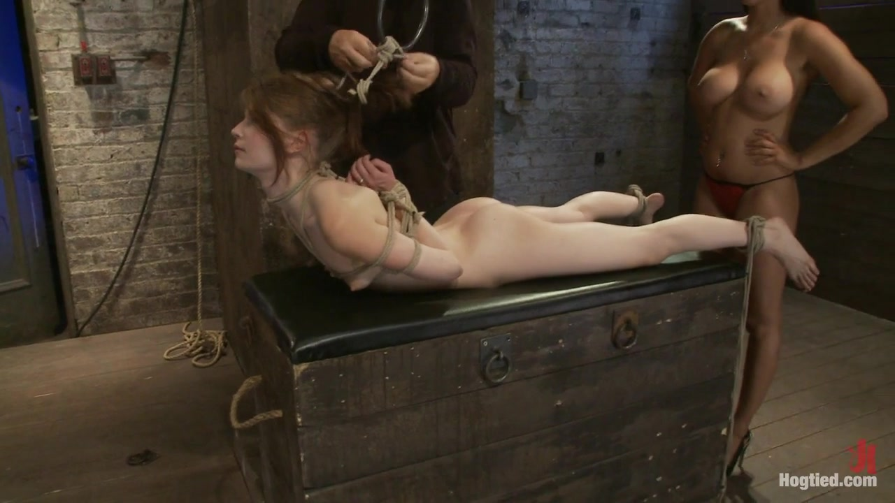 Extreme Reverse Prayer Category 5 HogTiedtying Done On Screen. Former Disney Star Made To Cum. - HogTied